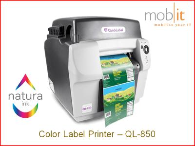 AstroNova QuickLabel QL-850 Color Label Printer CMYK 1600 dpi, Natura Ink | ☎ 044 800 16 30 | mobit.ch
