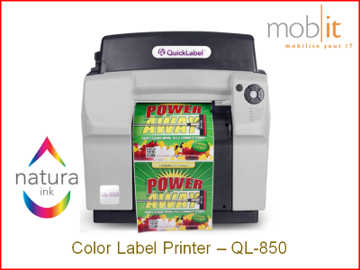 QuickLabel QL-850 Color Label Printer CMYK 1600 dpi, Natura Ink | ☎ 044 800 16 30 | mobit