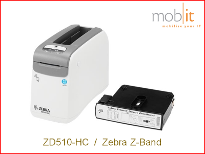 Zebra ZD510-HC Armbanddrucker, Imprimante de bracelets | ☎ 044 800 16 30 | mobit.