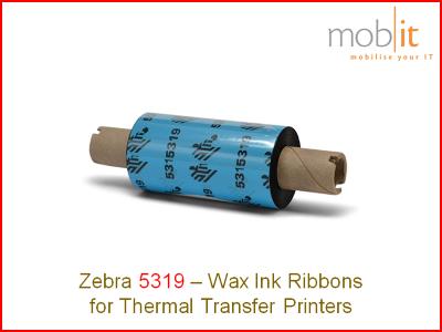 Zebra 5319 - Ink Ribbon, Farbband, Ruban encreur, Nastri per stampanti |☎ 044 800 16 30, info@mobit.ch
