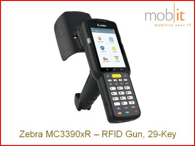 Zebra MC3390xR UHF-RFID Reader, 29-Key | info@mobit.ch, ☎ +41 44 800 16 30