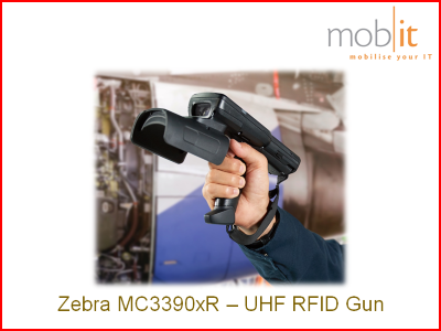 Zebra MC3390xR UHF-RFID Reader, Gun | info@mobit.ch, ☎ +41 44 800 16 30
