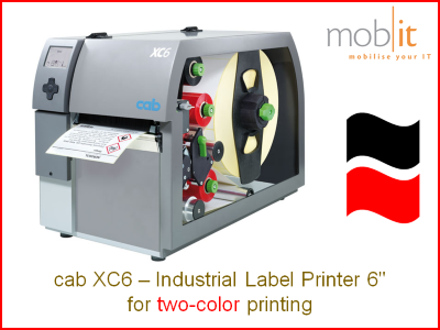 cab XC6 Industrial Label Printer, 6-inch | ☎ 044 800 16 30 ★ info@mobit.ch