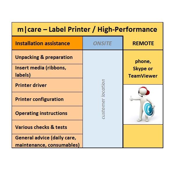 m|care - Installation Remote for Label Pritner / High-Performance | ☎ 044 800 16 30 | mobit