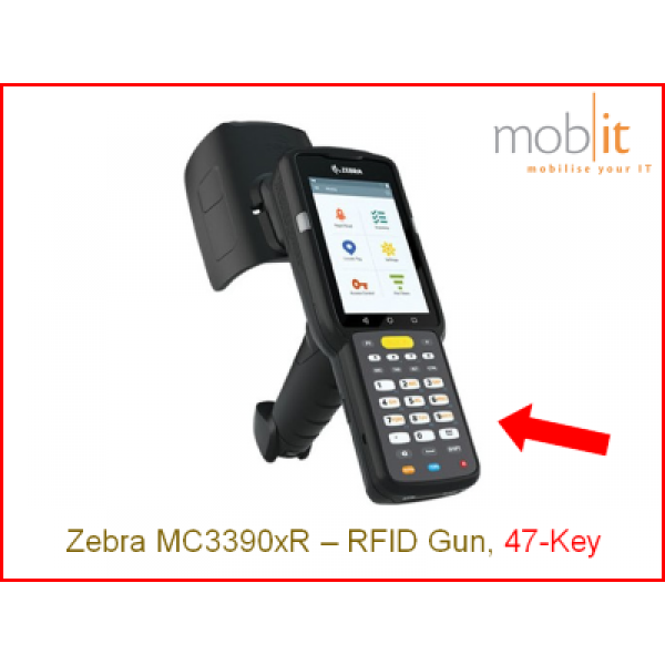 Zebra MC3390xR UHF-RFID Reader, 47-Key | info@mobit.ch, ☎ +41 44 800 16 30