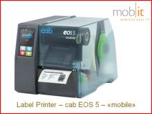 cab EOS5 mobile Label Printer, Etikettendrucker, Imprimante d'étiquettes, Stampante per etichette | ☎ 044 800 16 30, mobit.ch