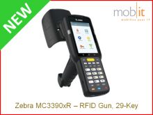 Zebra MC3390xR Long-range UHF-RFID Reader, 29-Key | info@mobit.ch, ☎ +41 44 800 16 30