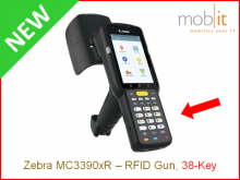 Zebra MC3390xR Long-range UHF-RFID Reader, 38-Key | info@mobit.ch, ☎ +41 44 800 16 30