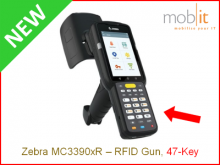 Zebra MC3390xR Long-range UHF-RFID Reader, 47-Key | info@mobit.ch, ☎ +41 44 800 16 30