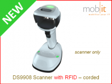 Zebra DS9908 Scanner with RFID white - corded | ☎ 044 800 16 30 ▶ info@mobit.ch