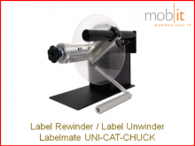 Labelmate Rewinder-Unwinder for Label Printers | ☎ 044 800 16 30, ★ info@mobit.ch