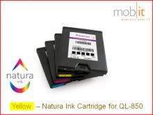 Cartouche d'encre Yellow pour imprimante d'étiquettes QL-850