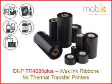 Wax Ribbon TR4085plus - 80 mm x 450 m, 24 rolls/box