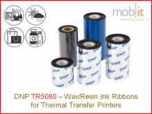 Wax/Resin Ribbon TR5080 - 220 mm x 450 m, 12 rolls/box