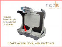 Toughbook FZ-A3 Tablet Vehicle Docking with electronics