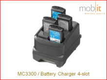 MC3300 Battery Charger, 4-slot