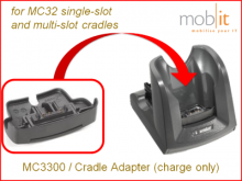 MC3300 Cradle Adapter, charge only