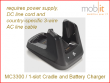 MC3300 Cradle and Battery Charger, 1-slot