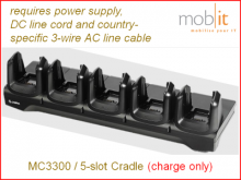 MC3300 Charge Cradle, 5-slot