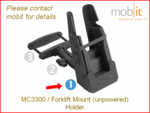 MC3300 Forklift Mount Holder, fente