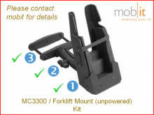MC3300 Forklift Mount Kit, sans alimentation
