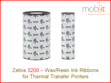Zebra TLP2824 Wax/Resin Ribbon - 57 mmx74 m, 12 rolls/box