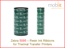 Zebra Resin Ribbon - 110 mm x 74 m, 12 rolls/box