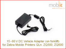 Zebra ZQ500/ZQ600 15-60V DC Adapter with open-ended cable