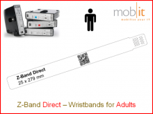 Bracelet patient Direct, adultes, 25x279mm blanc