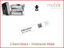 Bracelet patient Direct, bébés, 25x152mm blanc
