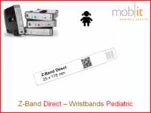Bracelet patient Direct, enfants, 25x178mm blanc