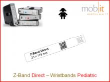 Bracelet patient Direct, enfants, 25x178mm blanc