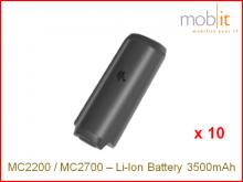 Zebra MC2200/MC2700 Batterie Li-Ion 3500mAh, 10 pièces