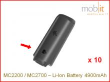 Zebra MC2200/MC2700 Batterie Li-Ion 4900mAh, 10 pièces