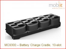 Station de recharge pour battéries Zebra MC9300, 10 slots