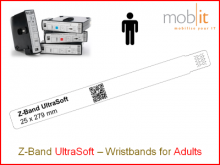 Bracelet patient UltraSoft, adultes, 25x275mm blanc