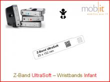 Bracelet patient UltraSoft, bébés, 25x152mm blanc