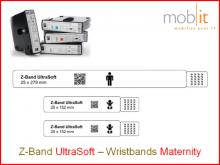 Bracelet maternité UltraSoft, mère+2bébés, 25x583mm blanc
