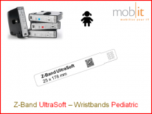 Bracelet patient UltraSoft, enfants, 25x178mm blanc