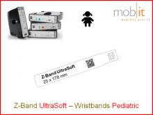 Bracelet patient UltraSoft, enfants, 25x178mm blanc